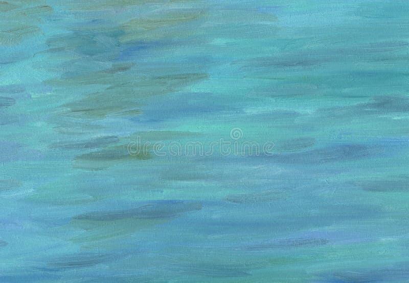 Pinceladas grandes da textura da pintura a óleo Ondas do mar fotos de stock