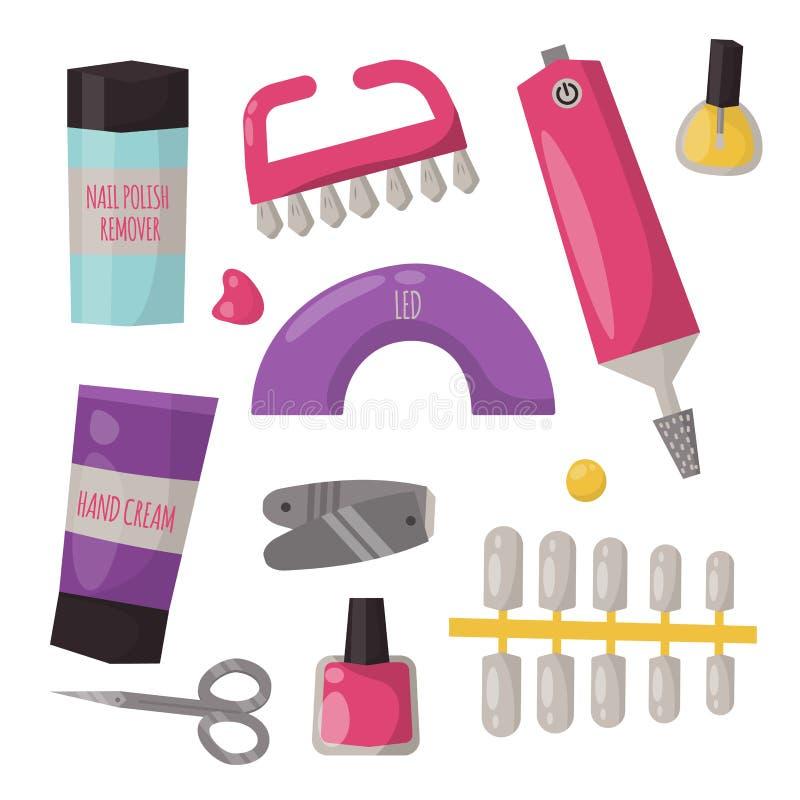 Pincett för salong för pedikyr för omsorg för hand för manikyrinstrumenthygien royaltyfri illustrationer