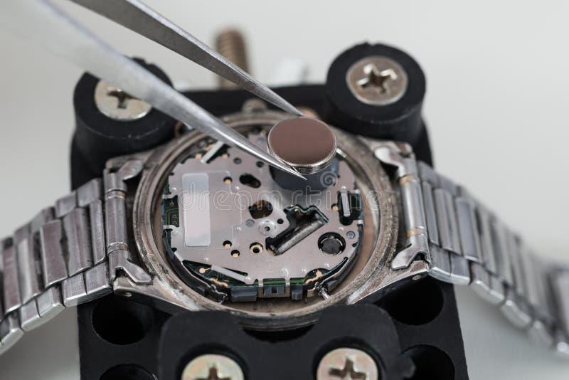 Pincety Z baterią I Wristwatch fotografia stock