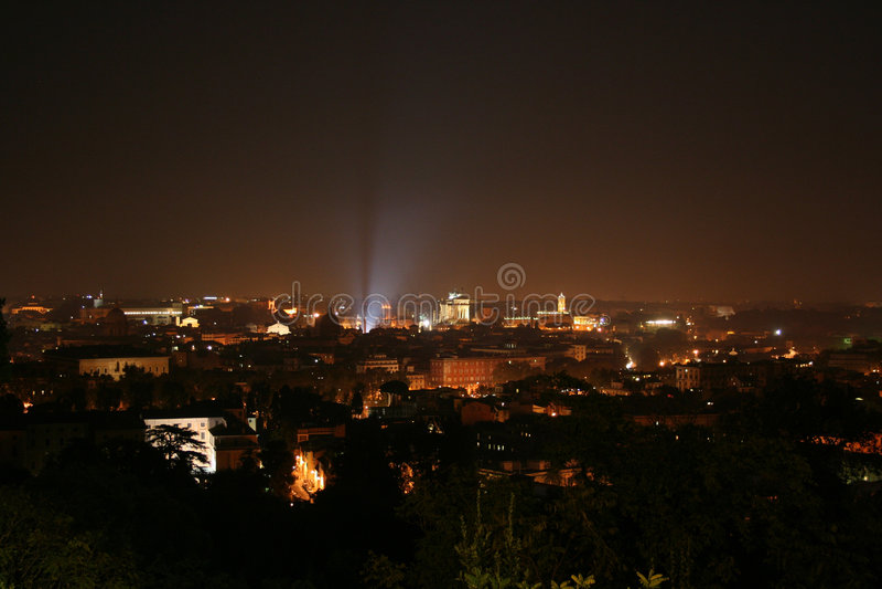 Pincio, Panorama van Rome stock afbeeldingen