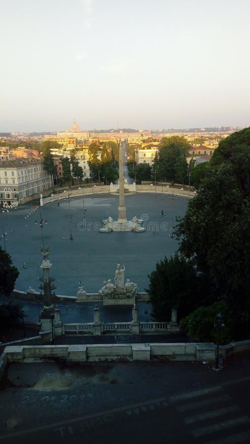 PINCIO VILLA BORGHESE ROMA. PINCIO Villa Borghese terrace stock image