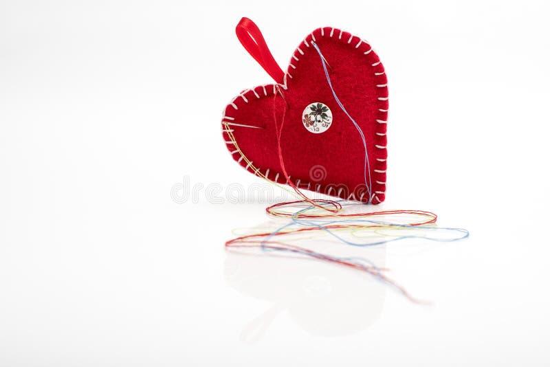 Pincushion сердца форменный стоковое изображение rf