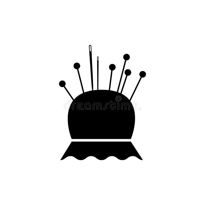 Free Pincushion And Sewing Needles And Pins Retro Style Icon. Black Pin Cushion Symbol. Stock Photography - 124300102