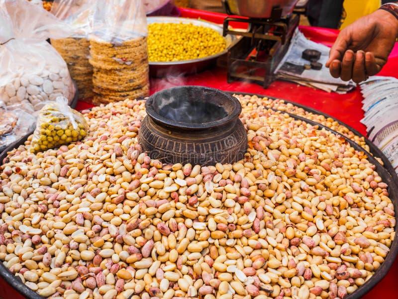 Pinda's bij straatmarkt in Jaisalmer-Fort stock fotografie