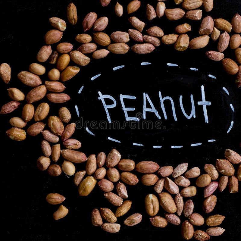 Pinda'shoogtepunt van proteïnen en vetten Dieet en gezonde levensstijl Hoogste mening stock afbeeldingen
