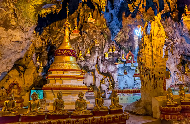 Pindaya caves royalty free stock photo