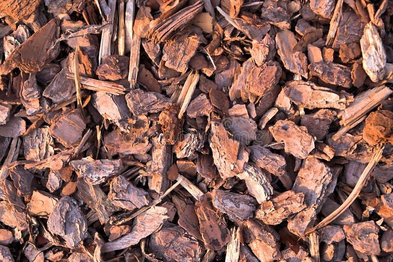 Pine Bark Mulch royalty free stock photo