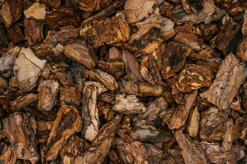 Pine bark mulch royalty free stock photos
