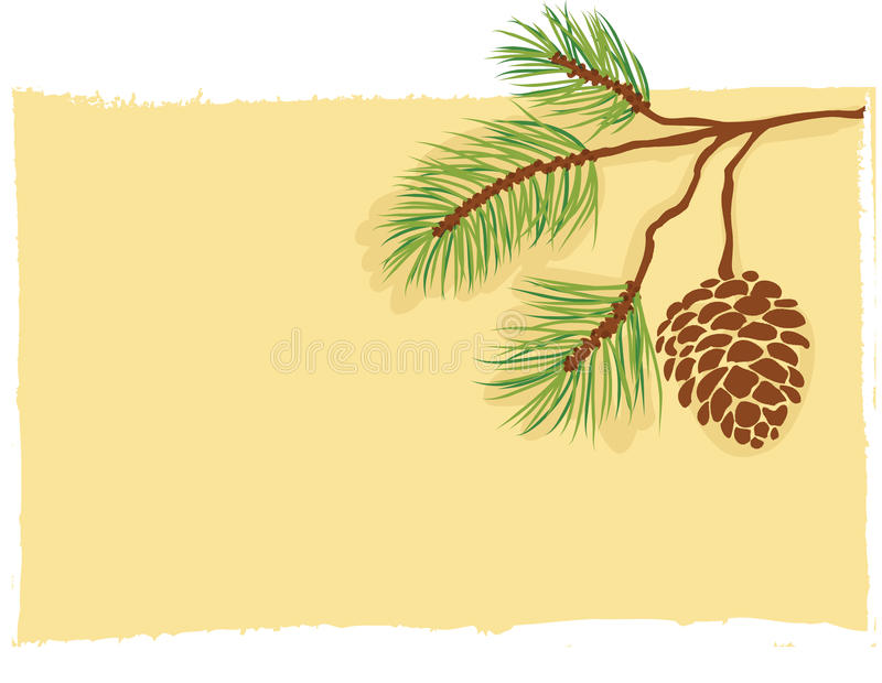 Download Pine branch card vector stock vector. Image of copy, isolated - 21914350