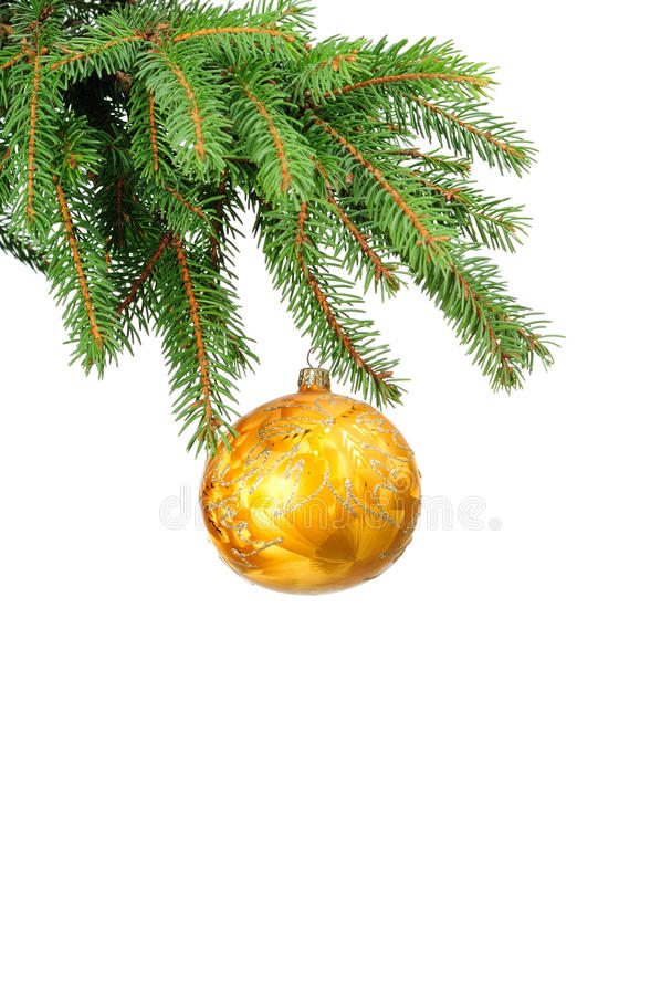 Download Pine Branches And Christmas Ball Stock Photography - Image: 11920022