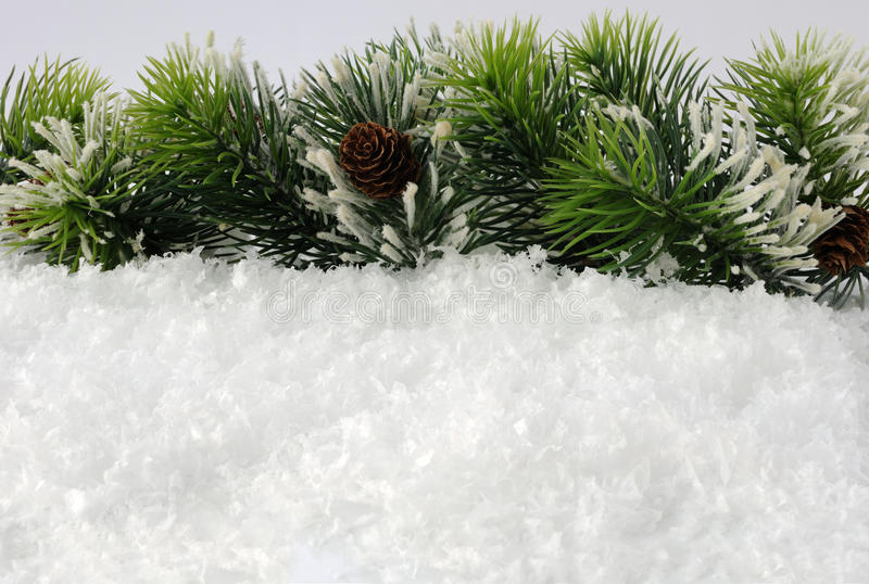 Download Pine Branches With A Lump In The Snow Stock Photo - Image: 25174570