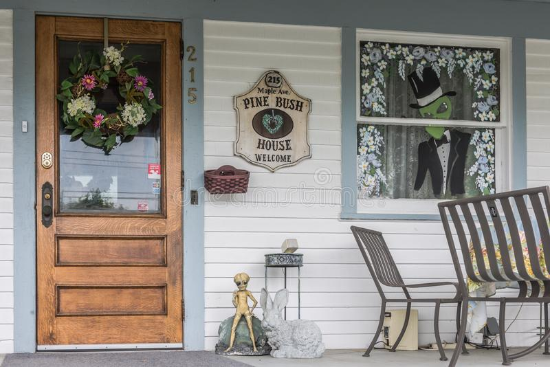Pine Bush House Bed and Breakfast Door royalty free stock images