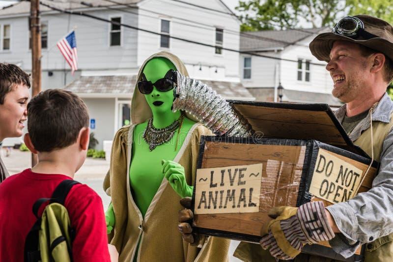Pine Bush UFO Fair Live Animal and Boys stock images