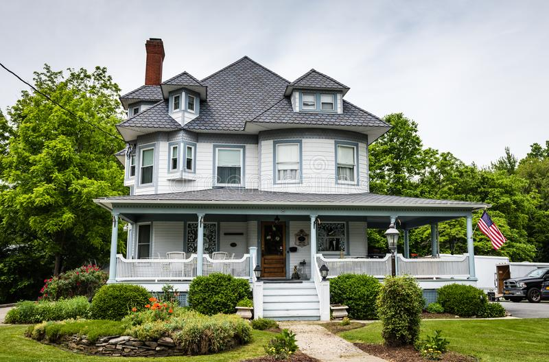 Pine Bush House Bed and Breakfast Front Porch stock image