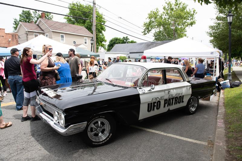 Pine Bush UFO Fair Patrol Car stock images