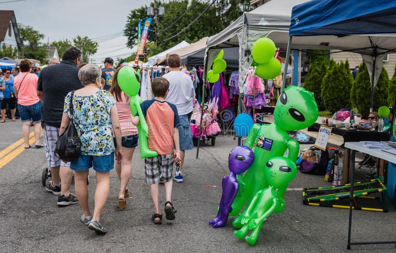Pine Bush UFO Fair Booths stock images