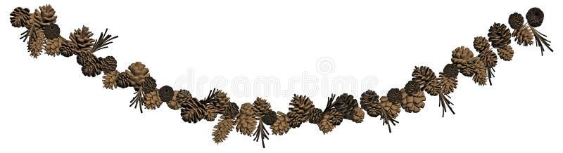 Download Pine Cone Garland Decoration Stock Illustration - Image: 27092525