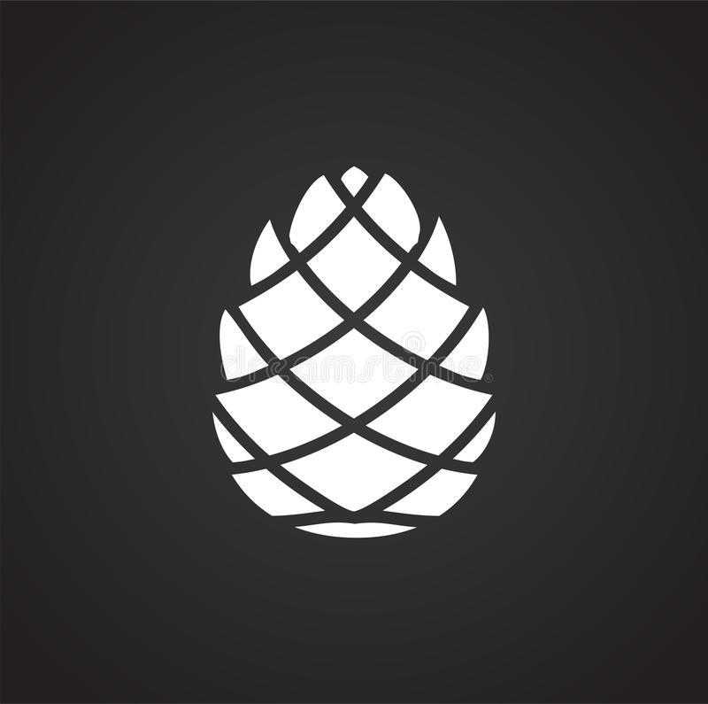 Free Pine Cone Icon On Background For Graphic And Web Design. Simple Illustration. Internet Concept Symbol For Website Button Royalty Free Stock Photography - 153905577