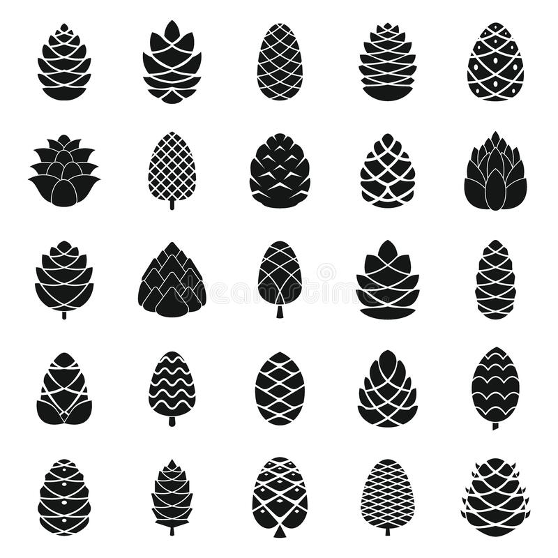 Free Pine Cone Icons Set, Simple Style Stock Image - 169073251