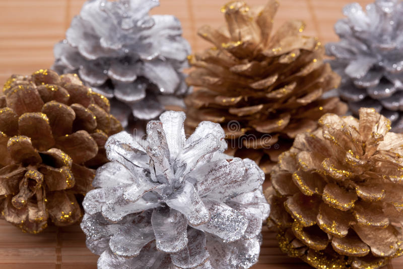 Download Pine cones stock photo. Image of holiday, straw, shiny - 27151100
