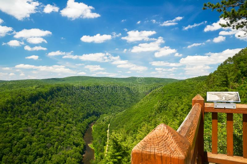 Pine Creek Gorge, the Grand Canyon of Pennsylvania. Pine Creek Gorge, also called the Grand Canyon of Pennsylvania. A 47 mile long, 1000 foot deep gorge that stock image