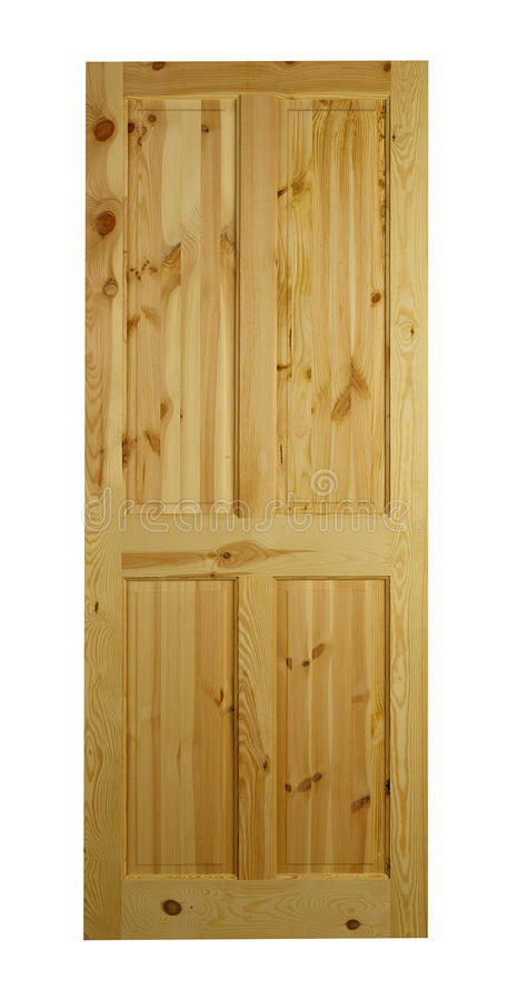 Pine door royalty free stock image