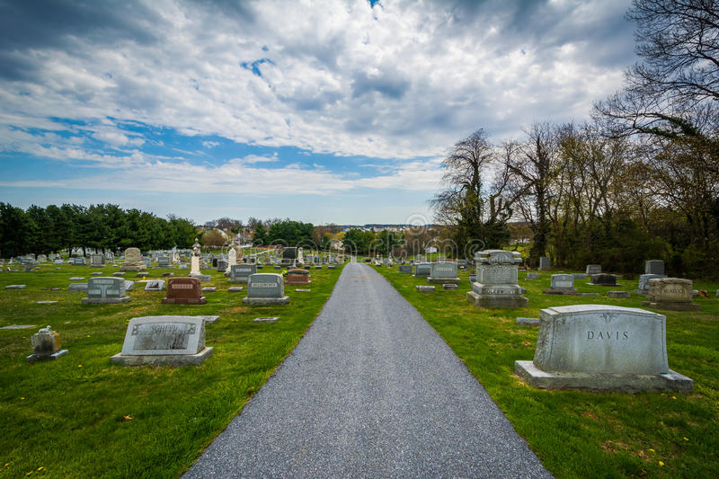 Pine Grove Cemetery in Mount Airy, Maryland. royalty free stock photography