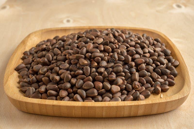 Pine nuts stock photos