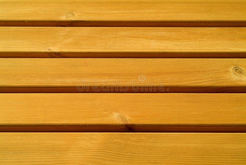 Pine slats. Horizontal slats of pine wood, unvarnished stock photography