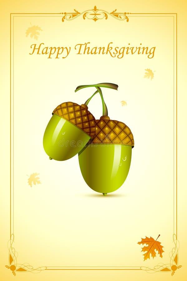 Pine in Thanksgiving Card vector illustration