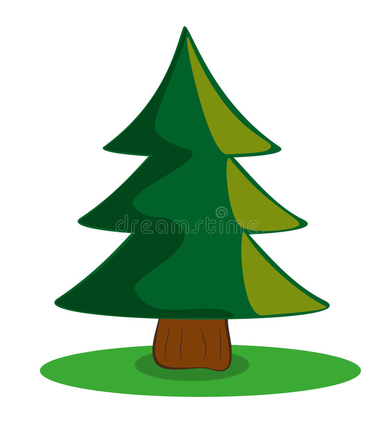 Download Pine Tree Cartoon Stock Illustration Of Environmental