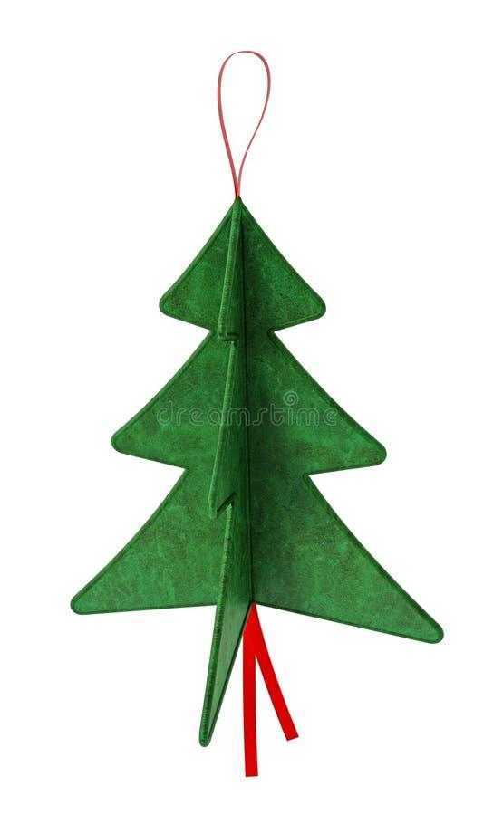 Pine tree Christmas ornaments. 3D illustration. Pine tree Christmas ornaments on white background. 3D illustration stock illustration