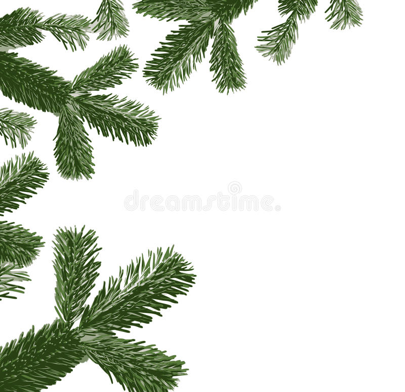 Download Pine tree elements stock vector. Image of december, cold - 22413852
