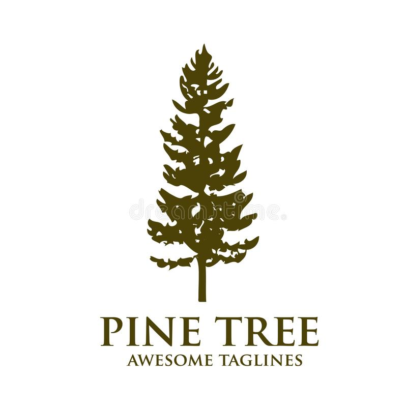 Free Pine Tree Green Silhouette Logo Stock Photography - 106106352