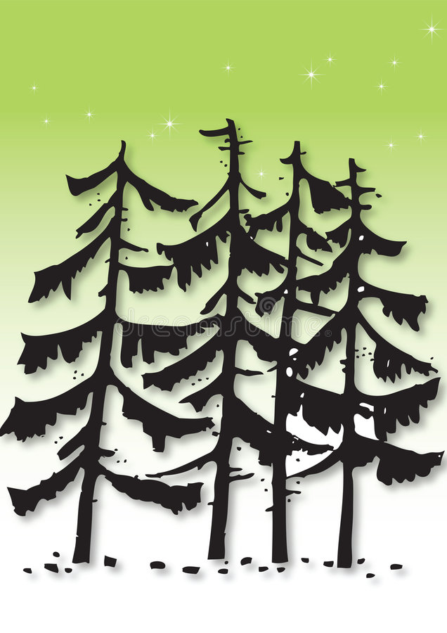 Download Pine tree illustration stock vector. Image of sparkle - 8545733