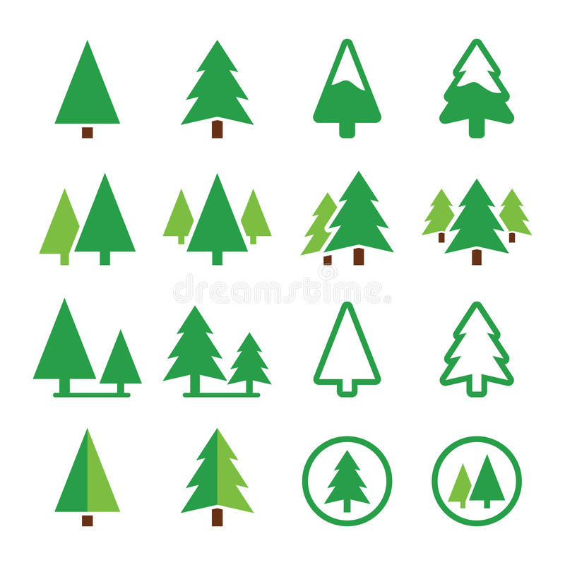 Free Pine Tree, Park Vector Green Icons Set Stock Photos - 38828973