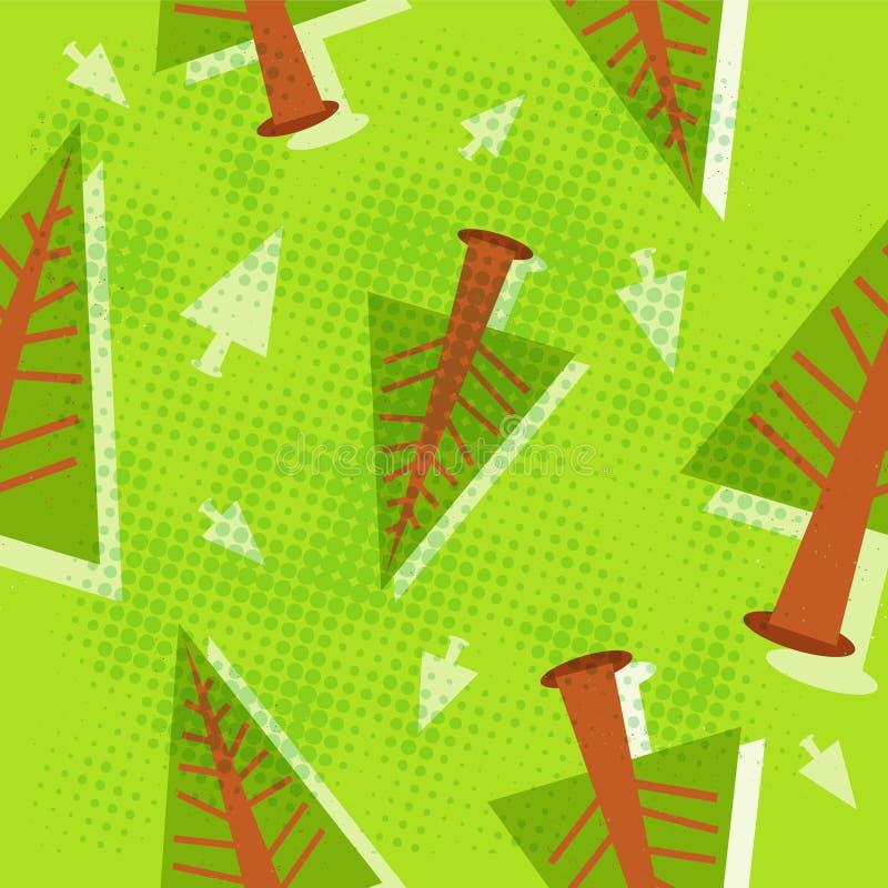 Pine tree pattern stock photo