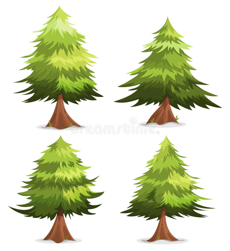 Download Pine Trees And Firs Set stock vector. Illustration of hedges - 59414644