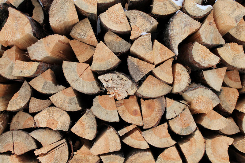 Pine wood for lighting the oven stock images