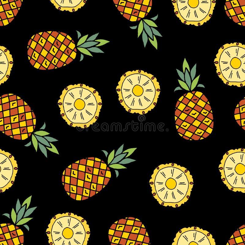 Pineapple pattern stock illustration