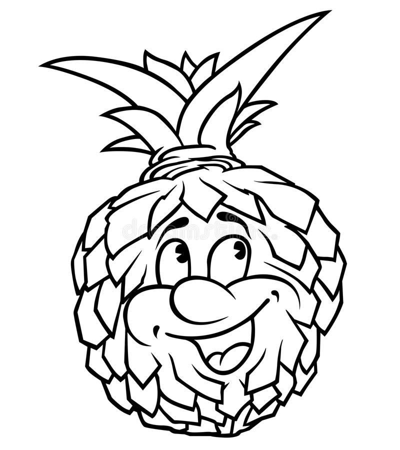 Download Pineapple stock vector. Image of tropical, face, drawn - 23144696