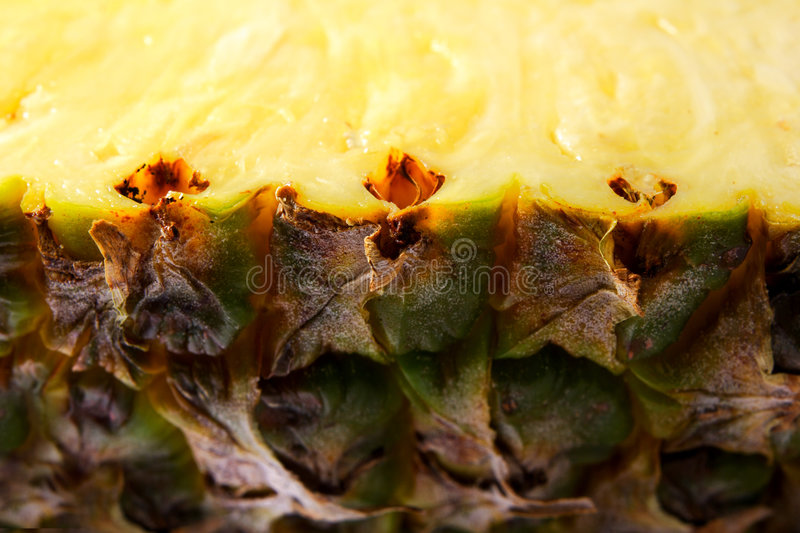 Pineapple. Close up view of ripe pineapple stock photos
