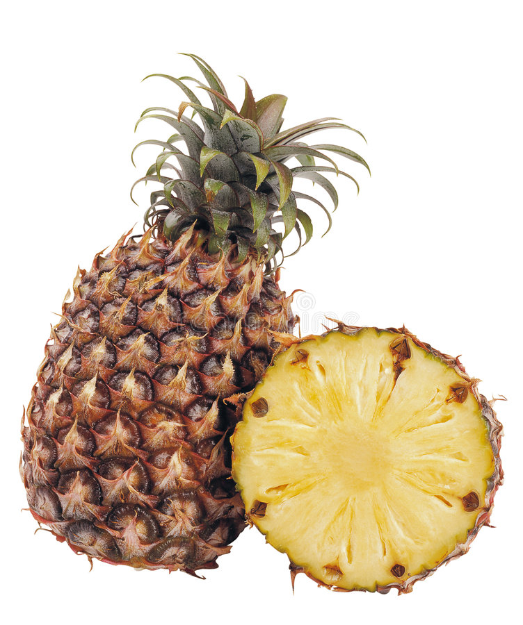 Pineapple. Fruits isolated on white background royalty free stock photos