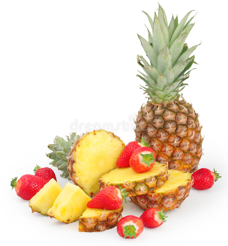 Free Pineapple And Strawberries Royalty Free Stock Photography - 12214167