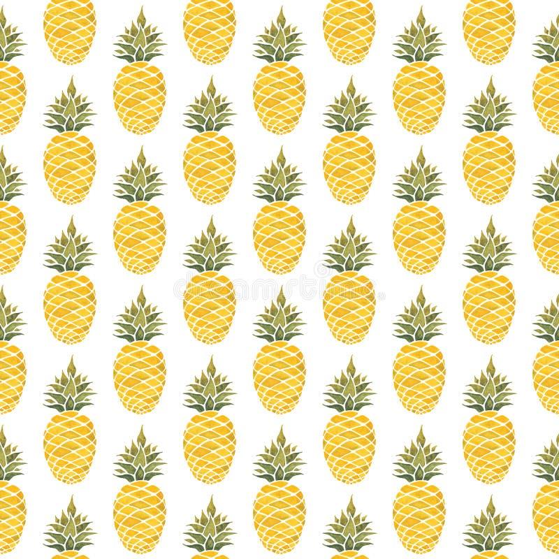 Free Pineapple Background. Watercolor Seamless Pattern. Stock Photo - 114124770