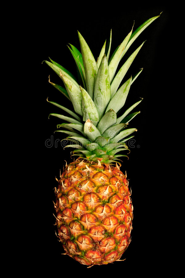 Pineapple on black royalty free stock images