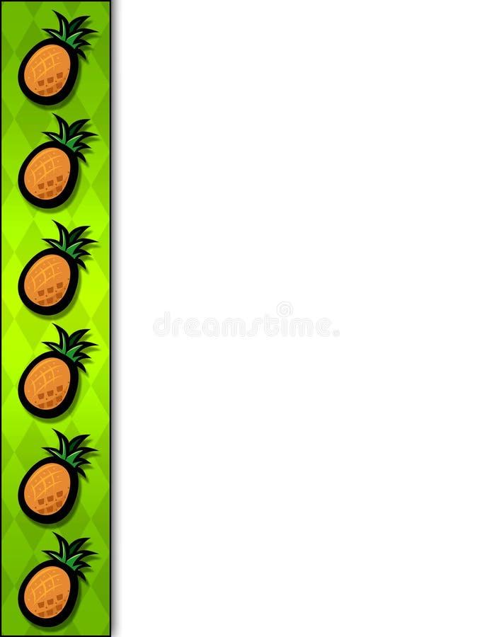 Pineapple border stock image