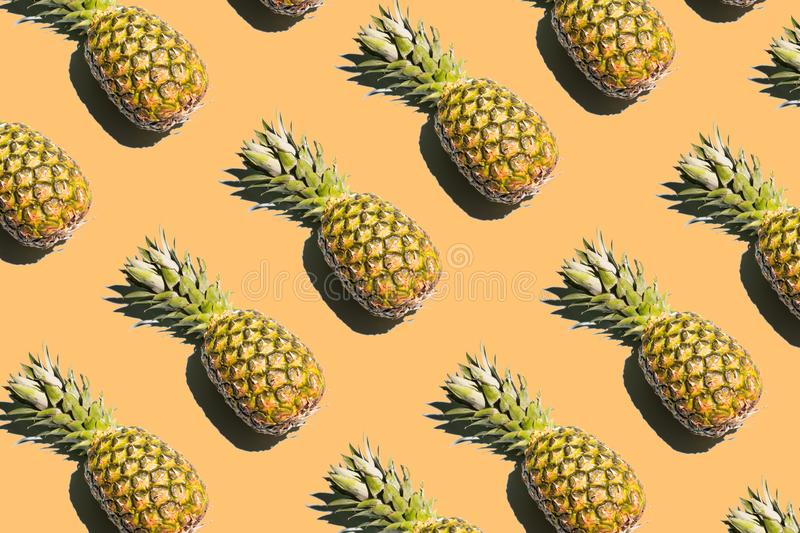 pineapple on a bright colored background bright collage