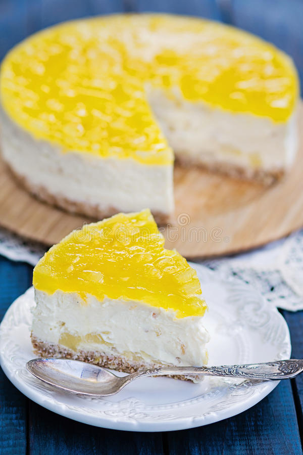 Download Pineapple cheesecake stock image. Image of tropical, fruit - 29202773