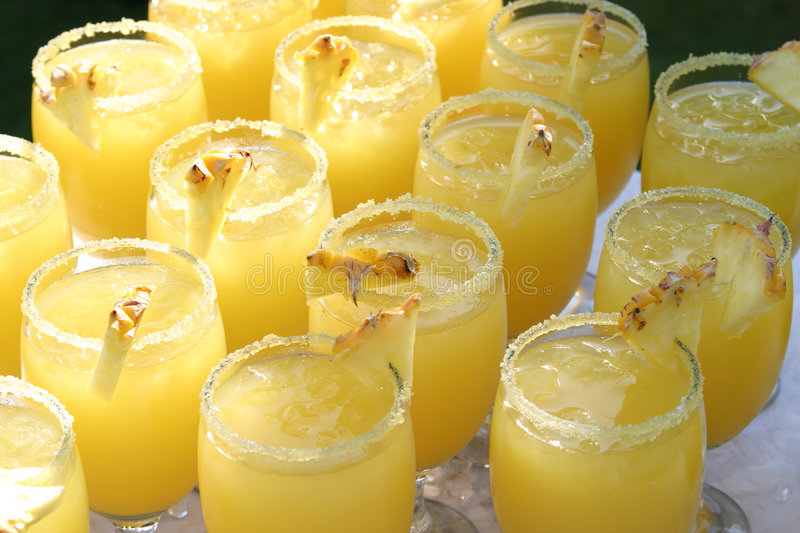 Pineapple coctails stock photo